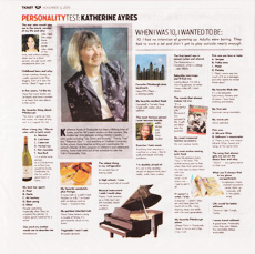 Tribune Review  personality feature